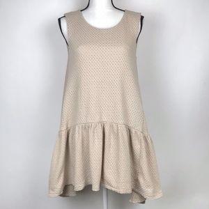 Free People Turn It On Knit Beige Dress XS